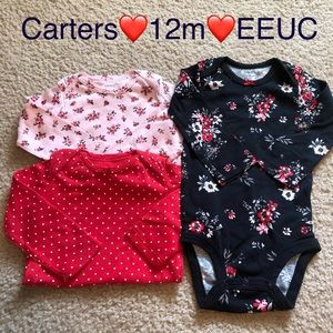 Carters Long sleeve bodysuits (3)
